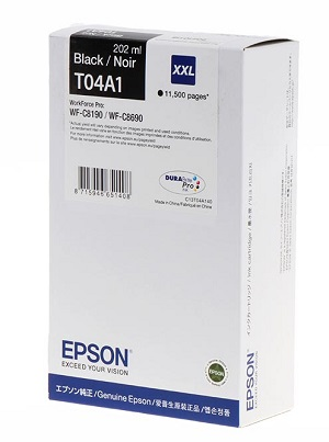Epson Ink Cartridge WF-C8190  T04A1 black XXL