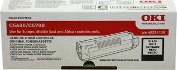 OKI Toner Cartridge C5600/5700 black (43324408) 6.000 stran