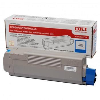 OKI Toner Cartridge C5850/C5950 cyan (43865723)