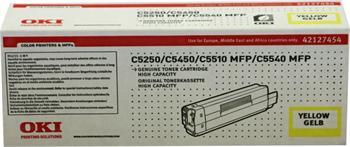 OKI Toner Cartridge C5250 yellow (42127454) 5.000 stran