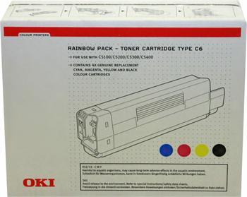 OKI Toner Cartridge C5100/5200/5300/5400 Rainbow pack CMYK (42403002)