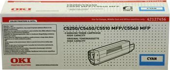OKI Toner Cartridge C5250 cyan (42127456) HC 5.000 stran