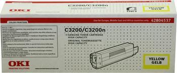 OKI Toner Cartridge C3200/C3200n yellow (42804537) high capacity